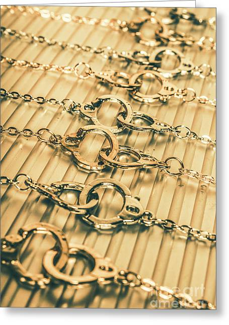 Under Arrest Greeting Card by Jorgo Photography - Wall Art Gallery