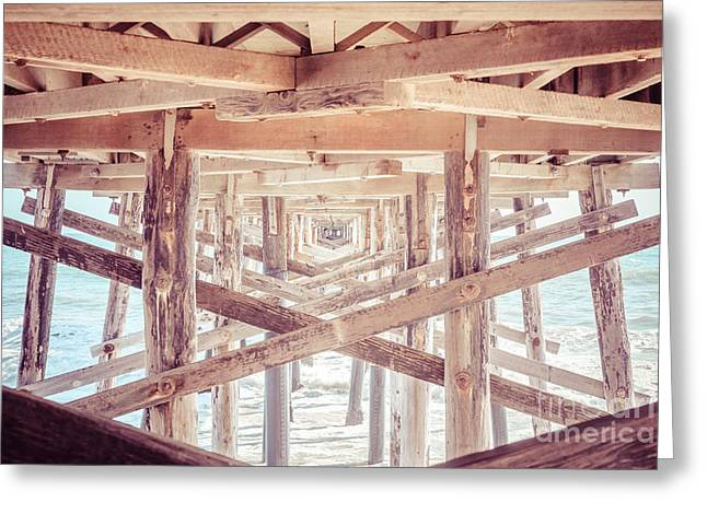 Under Balboa Pier Newport Beach Greeting Card by Paul Velgos