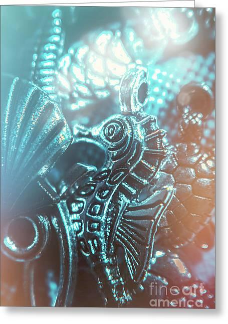 Under Blue Seas Greeting Card