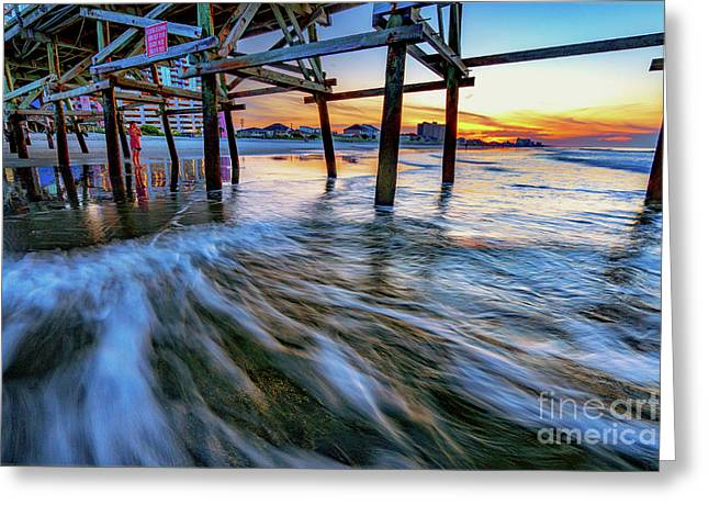 Under Cherry Grove Pier 2 Greeting Card