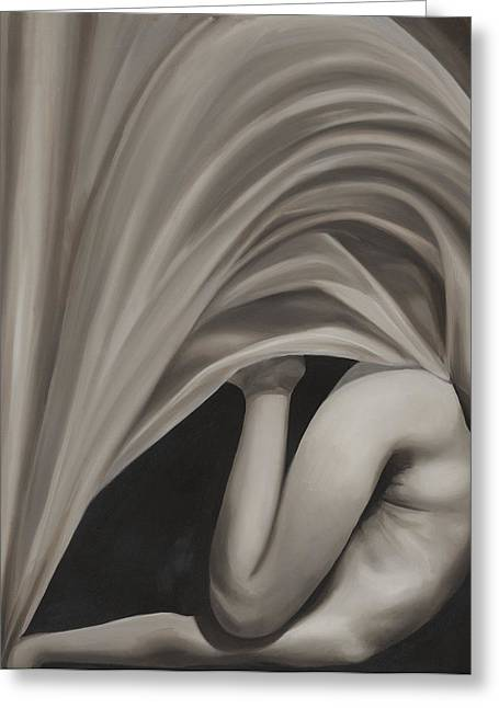 Nude Greeting Cards - Under Cover Greeting Card by Katherine Howard