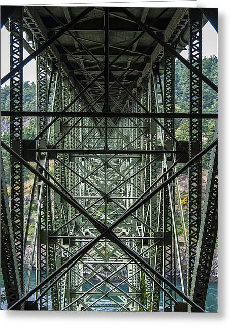 Under Deception Pass Bridge Greeting Card