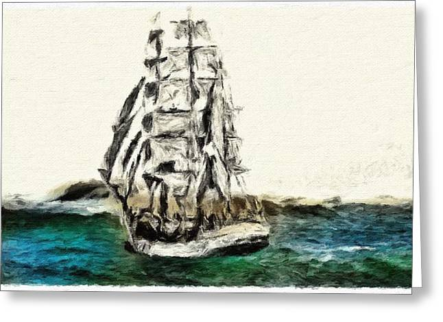 Under Full Canvas Greeting Card by Blair Stuart