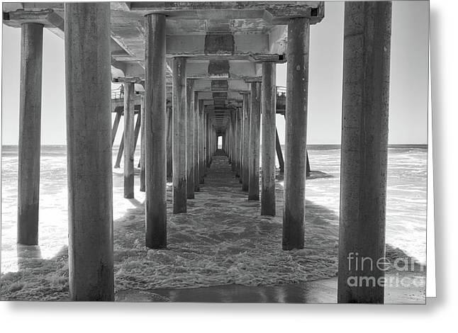 Under Huntington Beach Pier Greeting Card by Ana V Ramirez