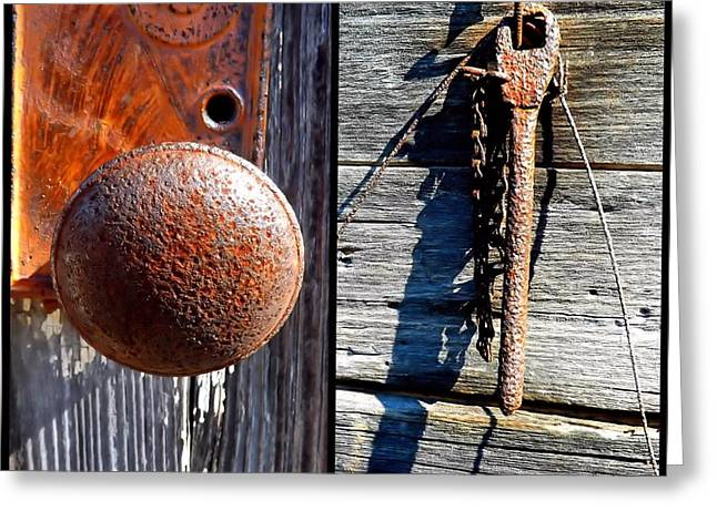 Under Lock And Key Greeting Card by Christy Ricafrente