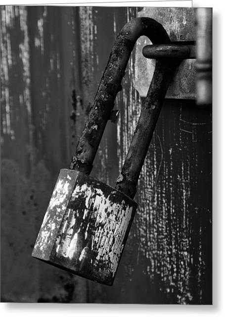 Under Lock And Key II Greeting Card by Off The Beaten Path Photography - Andrew Alexander