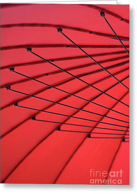 Under My Red Umbrella Greeting Card