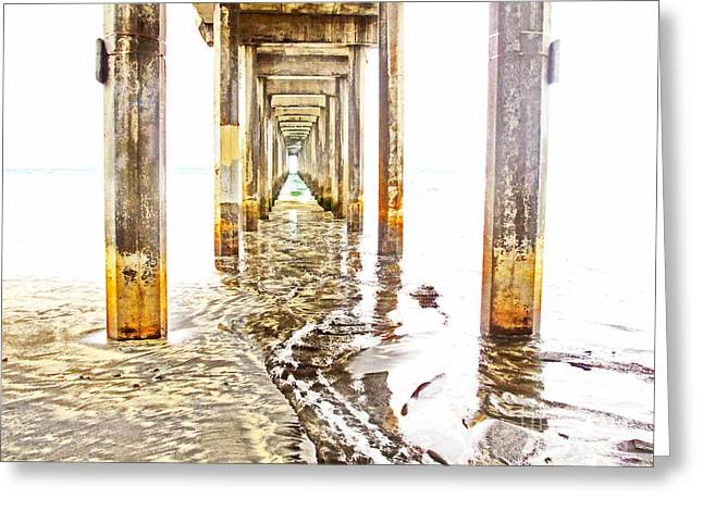 Under Scripps Pier Greeting Card by Ruth Jolly