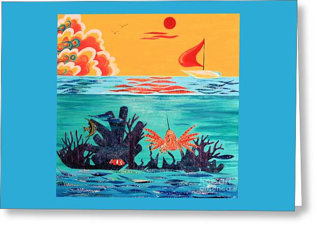 Bright Coral Reef Greeting Card