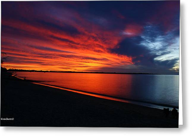 Under The Blood Red Sky Greeting Card by Gary Crockett