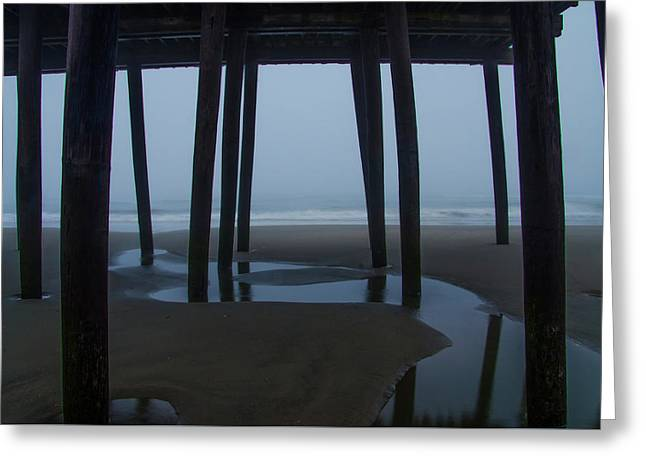 Under The Boardwalk - 43nd Street Pier Avalon New Jersey Greeting Card by Bill Cannon