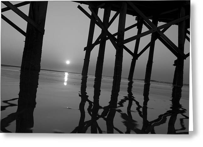 Under The Boardwalk Bw1 Greeting Card by Tom Rickborn