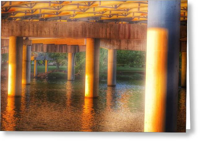 Under The Boardwalk Greeting Card by Gia Marie Houck