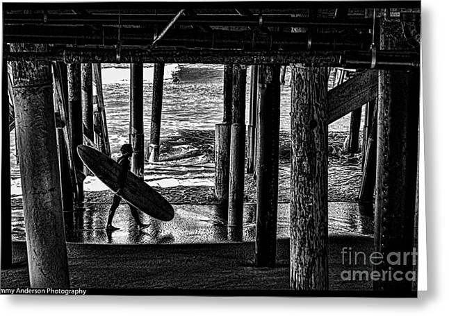 Under The Boardwalk Greeting Card by Tommy Anderson