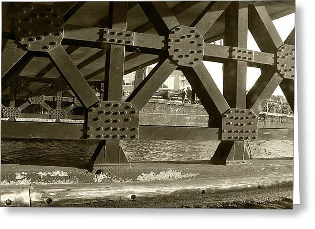 Greeting Card featuring the photograph Under The Bridge 2 by Scott Hovind