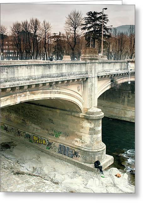 Under The Bridge Greeting Card
