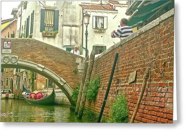 Greeting Card featuring the photograph Under The Bridge by Anne Kotan