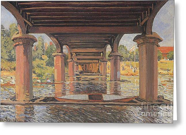 Under The Bridge At Hampton Court Greeting Card by MotionAge Designs
