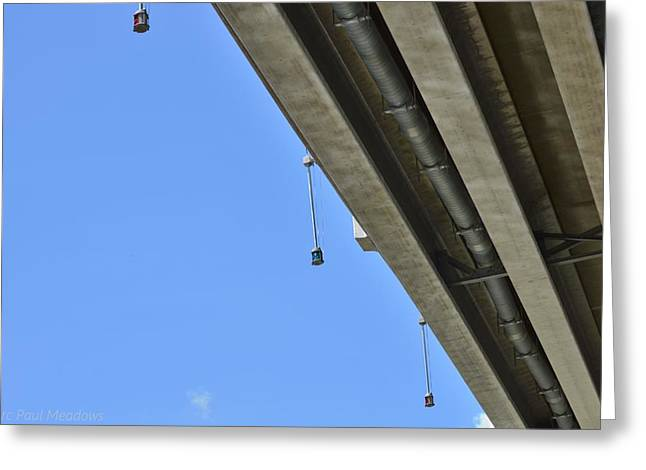 Under The Bridge Greeting Card by Marc Meadows