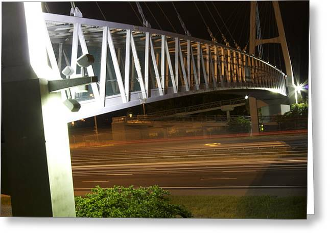 Greeting Card featuring the photograph Under The Bridge by Michael Albright