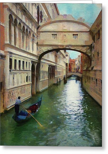Under The Bridge Of Sighs Greeting Card by Jeff Kolker