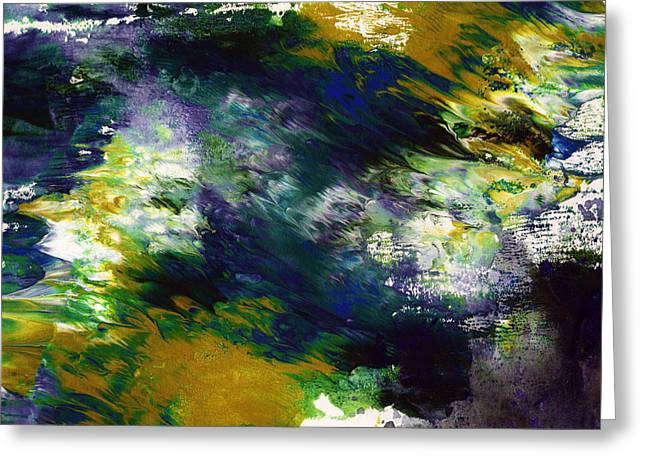 Under The Canopy 2- Abstract Art By Linda Woods Greeting Card