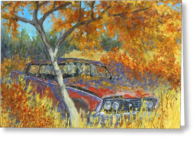 Under The Chinese Elm Tree Greeting Card