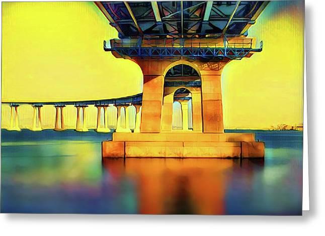 Under The Coronado Bridge Greeting Card