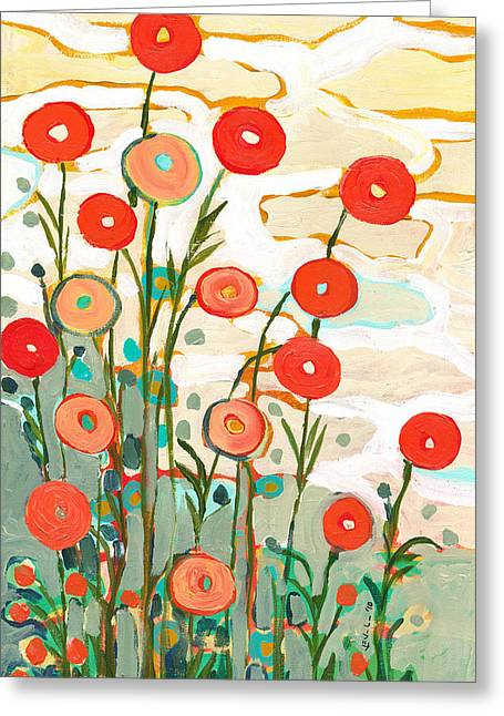 Under The Desert Sky Greeting Card by Jennifer Lommers