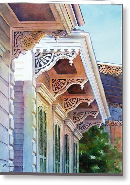 Under The Eaves Greeting Card by Sue Zimmermann