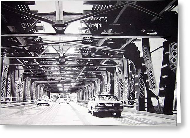 Under The El Greeting Card