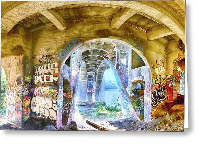 Under The Ford Bridge Greeting Card by Craig Voth