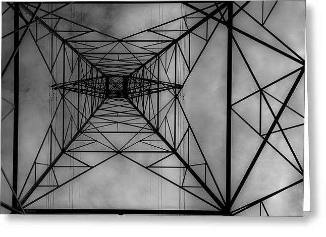 Under The Grid Greeting Card