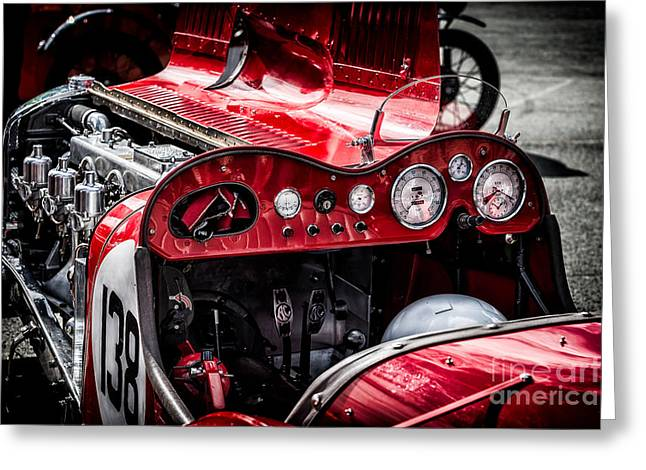 Under The Hood Greeting Card by Adrian Evans
