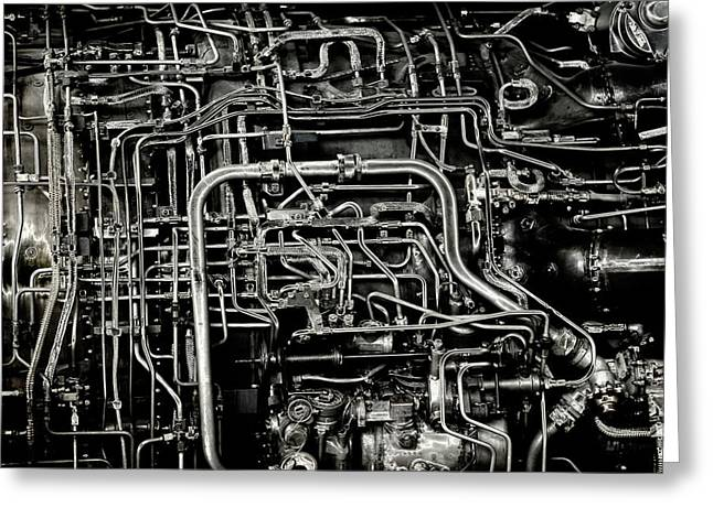 Greeting Card featuring the photograph Under The Hood by Jeffrey Jensen
