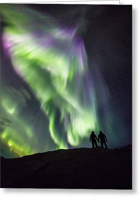 Under The Lights Greeting Card by Alex Conu