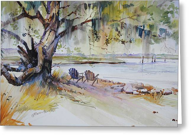 Under The Live Oak Greeting Card