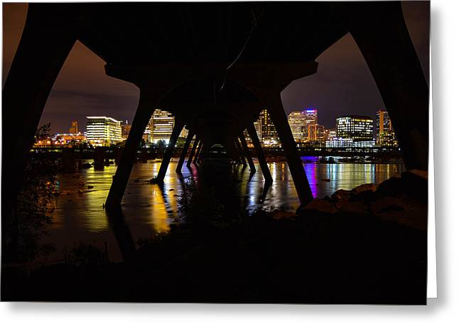 Under The Manchester Bridge Greeting Card