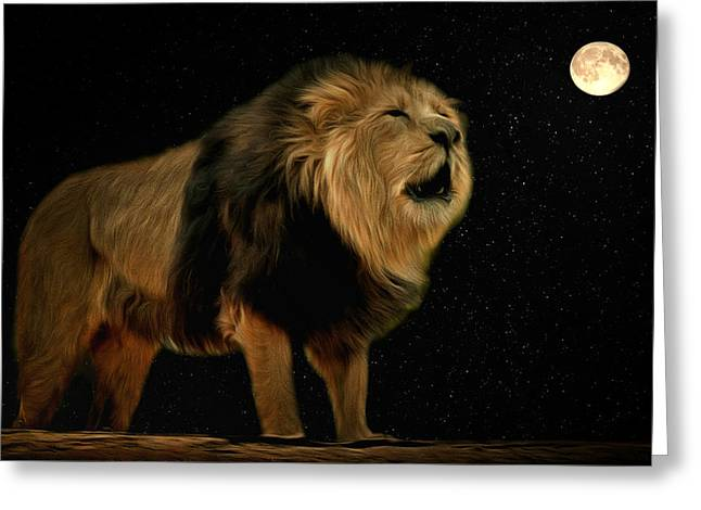 Under The Moon Greeting Card by Scott Carruthers
