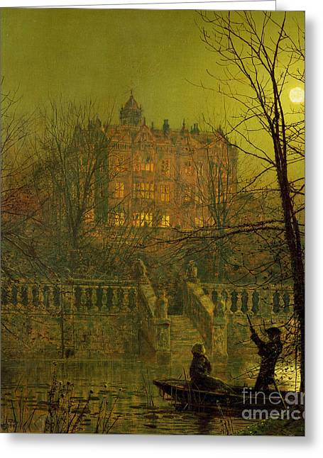 Under The Moonbeams, 1882 Greeting Card by John Atkinson Grimshaw