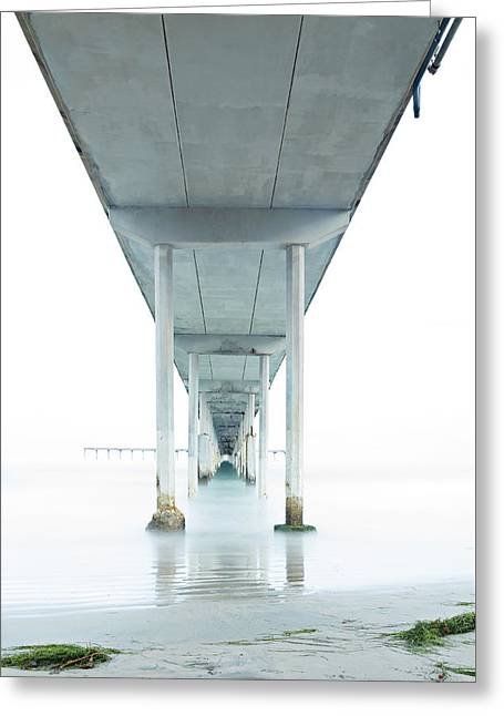 Under The Ocean Beach Pier Early Morning Greeting Card