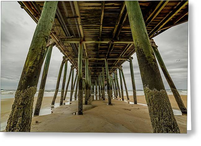 Under The Old Orchard Pier Greeting Card
