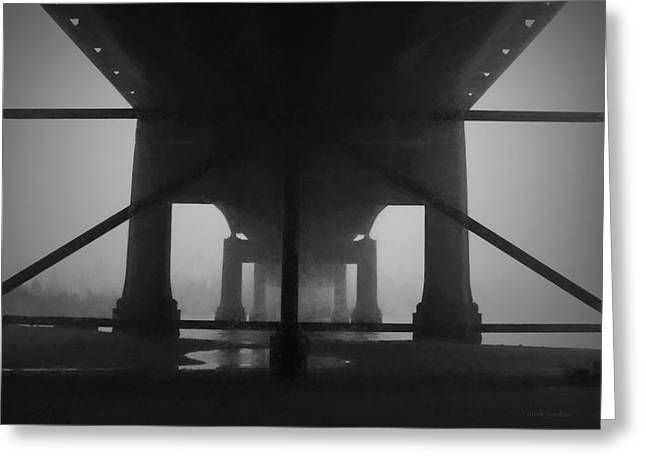 Under The Old Sakonnet River Bridge Greeting Card