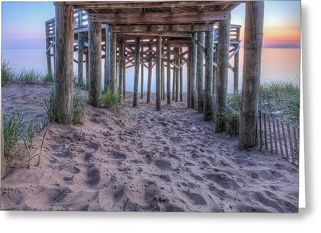 Under The Overlook In Sleeping Bear Dunes Greeting Card by Twenty Two North Photography