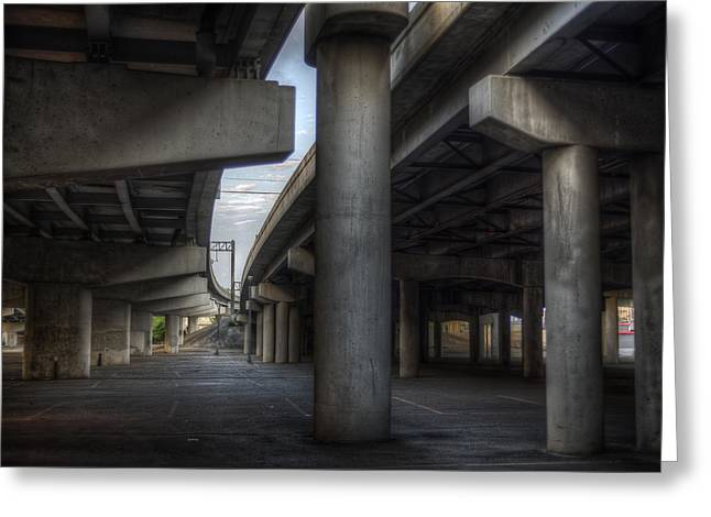 Under The Overpass I Greeting Card