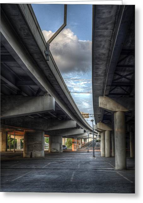 Greeting Card featuring the photograph Under The Overpass II by Break The Silhouette