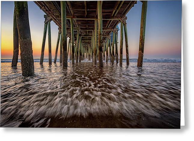 Greeting Card featuring the photograph Under The Pier At Old Orchard Beach by Rick Berk