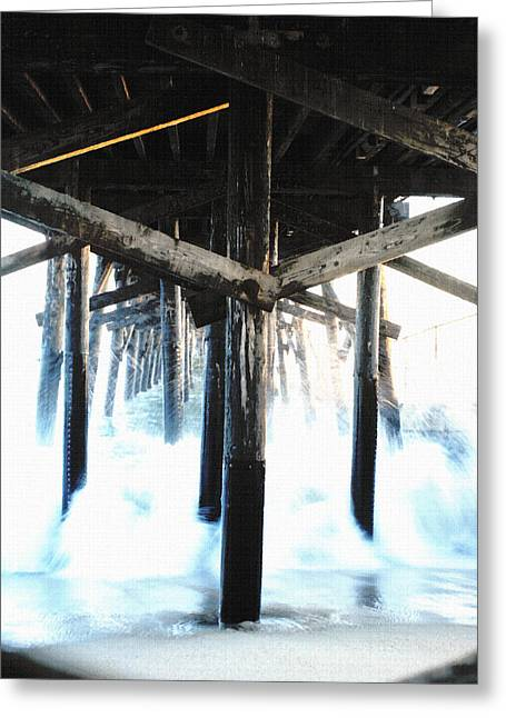 Under The Pier Canvas Greeting Card by Bruce Wayne
