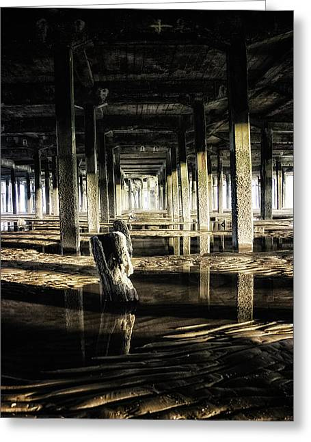 Under The Pier Greeting Card by Martin Newman