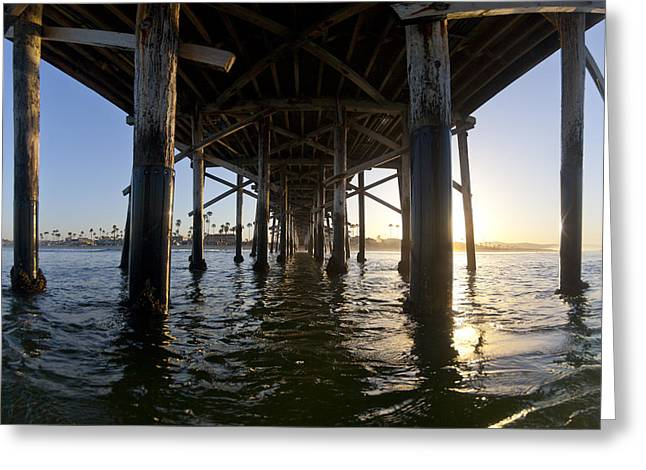 Under The Pier Greeting Card by Sean Davey